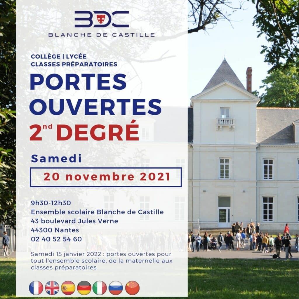 Portes ouvertes Blanche de Castille Nantes 20 novembre 2021